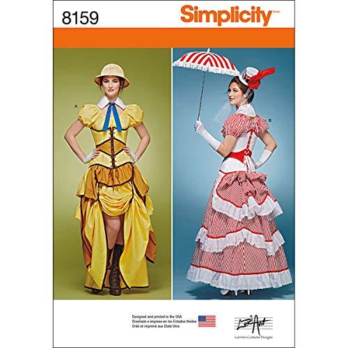 Simplicity Muster 8159Misses 'Cosplay Kostüme mit Korsetts Schnittmuster, weiß, Größe ()