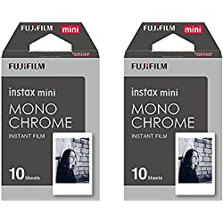 Fuji Instax Mini Monochrome BLACK AND WHITE Instant Film - 20 Shot Pack