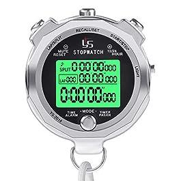LAOPAO Cronometro, Funzione Luce e Muto Cronografo Timer per Palestra Pallacanestro Calcio Baseball Sport Outdoor