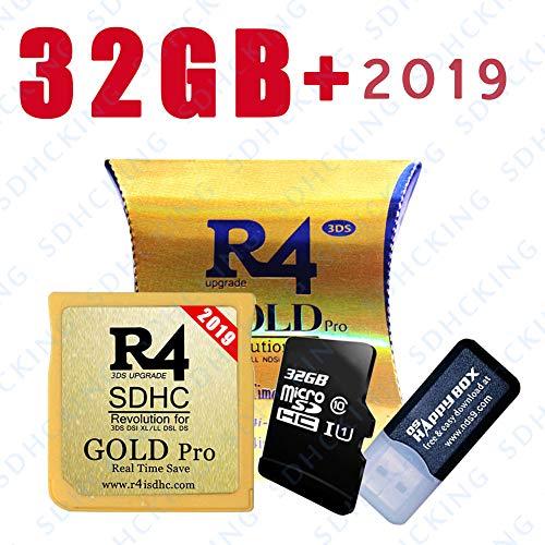 SDHCKING 2019 Gold Pro SDHC- und 32 GB TF-Karte für DS DSI 2DS 3DS, bereits heruntergeladen UK EN FR IT ES Kernel