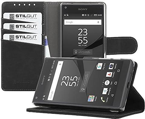 StilGut Talis, Housse porte-cartes avec fonction support pour Sony Xperia
