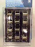 Bobbin box with 12 metal bobbins suitable for use with all mechanical automatic sewing machines ( Bernette / Brother / Usha / Singer )