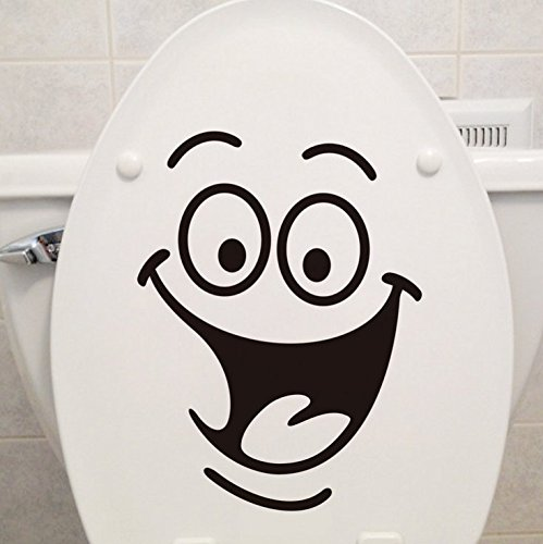 Toilet Stickers Wall Art Decal Removable DIY