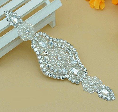 Shinybeauty strass applique wedding Appliques applicazioni con strass  diamante Crystal bridal Sash applique bridal applique applique strass  applique ... 74fe88fac9e