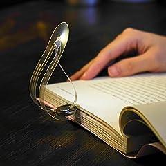 Idea Regalo - Distinctive Segnalibro, Ultra-Sottile, Funzione Lampada, Lampada da Lettura, Interruttore tra Bookmark e Lampada