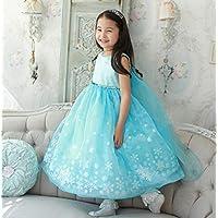 Xcr-f-5 4-8yrs Girls Luxury Disney Frozen Dress Princess Cosplay Dress