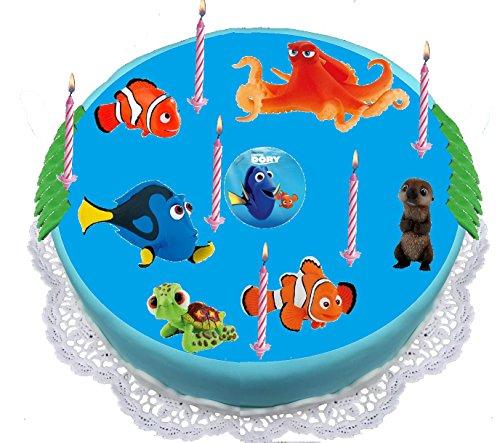 Nemo Tortendeko - mit 6 Figuren -Dory, Nemo, Hank, Marlin, Otter, Racker und vielen kleinen Gratis spiel Überraschungen von Dory