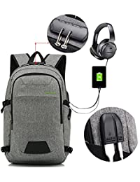 Baibu Business Laptop Backpack,Anti Theft Bookbag For Women&Men,Water-Resistant Travel College Backpack Wi