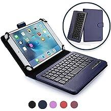 Funda con teclado LG G Pad 8.3 COOPER INFINITE EXECUTIVE Funda tipo carpeta 2 en 1, cuero, teclado Bluetooth inalámbrico, soporte + Google Play Edition (Azul oscuro)