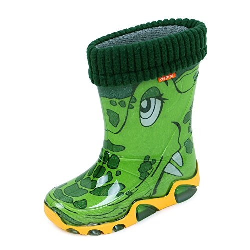 Demar Kids, Girls, Boys Green/Crocodile, PVC, Wellies, Wellington, Rain Boots