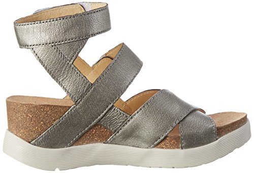 FLY London Damen Wege669fly Plateau Silber (lead 006)