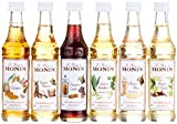 1 x Monin Mini Coffee Set 6X 5 cl Vanilla, Hazelnut, White Chocolate Macadamia Cookie