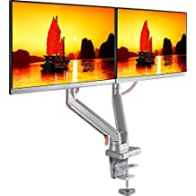 ONKRON Supporto per monitor da scrivania per schermi 17 - 32 pollici Staffa regolabile con VESA compatibile max 100 x 100 mm LCD LED da scrivania con molla meccanica per ufficio casa MS160