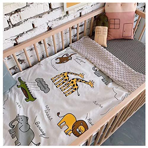 Sticker Superb Sommer Baby Baumwolle Dünne Decke, Baby Decke Junge Mädchen Comic Tiere Löwe Giraffe Einhorn Geometrie Beschwichtigen Kind Schlafen Wiege Kinderwagen Babydecke (Zoo, 120 x 150 cm)