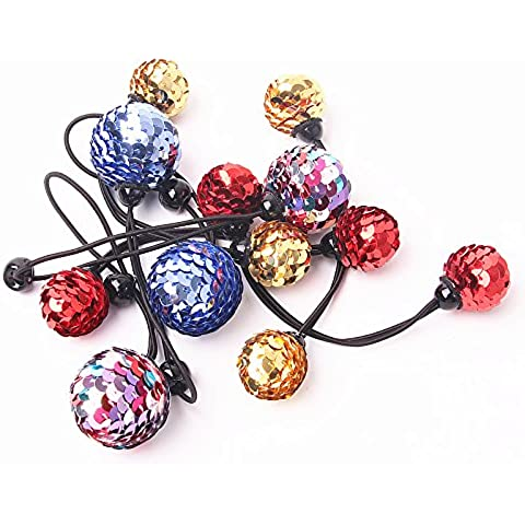 Bambini Pinecone capelli anello 4tipi Glitters capelli, ornamenti di Natale fascia per capelli, Blue, Standard - Paillettes Palla Ornamento