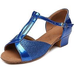 Zapatos de BAILE Azul de Satén HIPPOSEUS