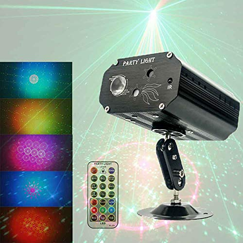Stage light Disco Lichter Sound Activated Disco Ball Lichter/Party Lichter Mit Fernbedienung Für Kinder Geburtstag Familie Sammeln Weihnachtsfeier Home-USB Powered Black