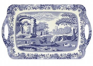 Pimpernel Blue Italian Large Melamine Tray by Spode -