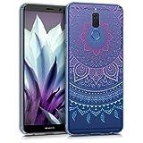 kwmobile Huawei Mate 10 Lite Hülle - Handyhülle für Huawei Mate 10 Lite - Handy Case in Blau Pink Transparent