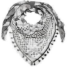 1b61eea642a6d1 styleBREAKER Dreieckstuch XXL mit Camouflage Mustermix, Pailletten Stern,  Quasten und Fransen, Schal,
