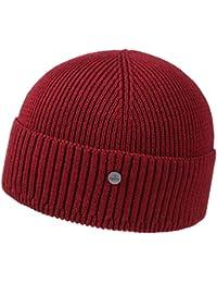 Lierys Uni Merino Strickmütze für Damen und Herren Strickmütze Wintermütze Wollmütze mit Umschlag Herbst Winter