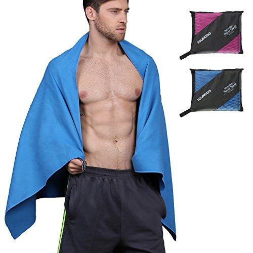Mikrofaser Handtuch XL 150x80 Handtuch Strand Ultra Leicht und Saugfähig Reisehandtuch Strandtuch Schnelltrocknendes Handtuch für SPA Sport Fitness Schwimmen Reise Strand und Yoga Blau