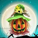 BESTOYARD Halloween Kürbis Laterne Jack-o-Laterne Dekoration Scary Modell mit batteriebetriebenen Figur Statue Spukhaus Dekoration - 9
