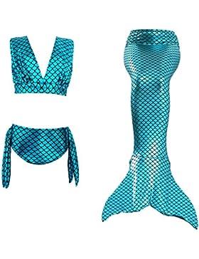 [Sponsorizzato]Le SSara Le ragazze cosplay Scollo all'americana Swimwear Mermaid Shell costume da bagno 3pcs insiemi del bikinib