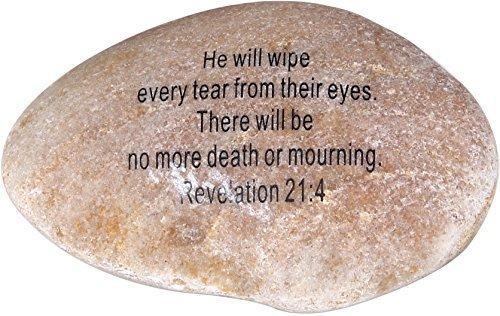Extra große Gravur Inspirierende Scripture biblischen Natursteine Collection-Stein XI: Offenbarung 21: 4: