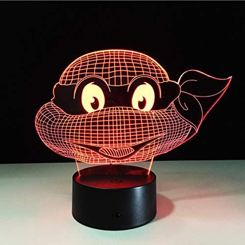 (Mutant Ninja Turtles Led Lampe 7 Farben Ändern Schildkröte Nachtlicht Lampen 3D Touch Nightlight Kids Teenage Geschenk)