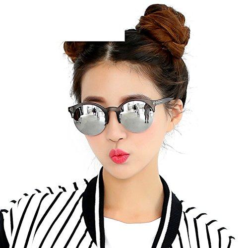 Runde halbe Feld Katze Brille/Reflektierenden Sonnenbrille/Niedlich Sonnenbrillen-A