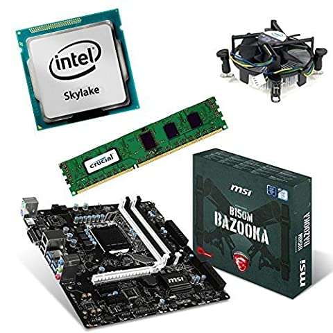 Aufrüstkit B150MBazooka+G4400+8GB Desktop-PC (Intel Pentium Dual-Core G4400 3.3 GHz Processor.Skylake, 8GB RAM, Intel HD510)