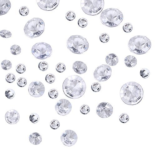 3800 Stücke Klare Wedding Table Streuung Kristalle Deko Diamanten, 4 Größen Künstliche Acryl Diamanten, Tisch Dekoration für Geburtstag Baby Dusche ()