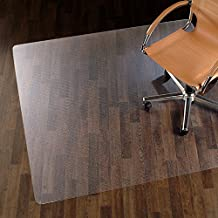 etm Chair Mat for Hard Floors - 75x120cm (2.5'x4') | Multiple Size Options | 100% Pure Polycarbonate, No-Recycling Material - Transparent, High Impact Strength