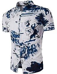 XiaoGao_ la mode masculine occasionnel été chemise à manches courtes