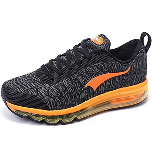 ONEMIX Air Uomo Donna Scarpe da Corsa Sportive Running Sneakers Casual all'Aperto Grigio/Arancione 46 EU