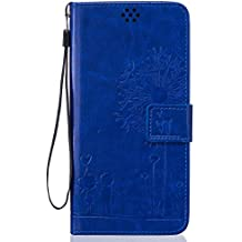 Beiuns Funda de PU piel para Meizu MX5 (5,5 pulgadas)(no para Pro 5) Carcasa - TX521 azul hermoso