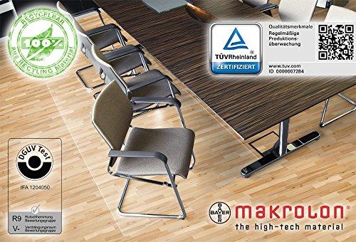 Bodenschutzmatte XXL 120 x 200 cm, aus transparenten Makrolon®, Schutzmatte für Parkett-, Laminat-, Fliesen- & PVC-Böden, 8 weitere Größen wählbar