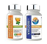GBSci Biotika & Antioxidantien-Entgiftungskur-Kombo - Eine einmalige Kombination aus reinen Lactobacillus Acidophilus Biotika und einer Antioxidantien-Entgiftungskur - Vegetarisch/Vegan - Glutenfrei