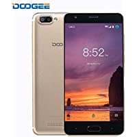 Smartphone In Offerta, DOOGEE X20 Dual SIM Free Telefonia Mobile Nuovi, 3G 5.0 Pollici HD Schermo cellulari - Android 7.0 MT6580 Telefono - 1GB Ram+16 GB Rom - Dual 5.0MP Fotocamera Digitale - 2580mAh - Oro