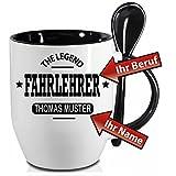 Löffelbecher Schwarz zb. FLIESENLEGER und ihr Namenswunsch. Senden Sie uns beim oder nach dem Kauf ihre Druckdaten.