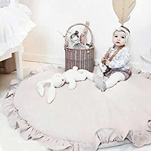 autumn-wind Cartoon Creeping Mat Baby Infant Playmat Blanket Play Game Mat Room Decoration Round Crawling Activity Pad Carpet Floor Home Rug Gift