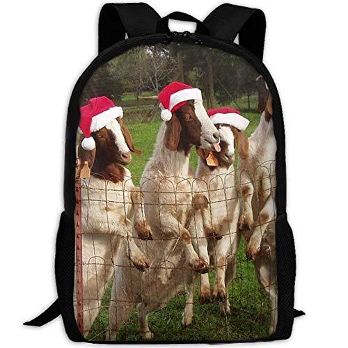 ptop Backpack for Women Men Christmas Animal Festive Cows Student Backpack ()