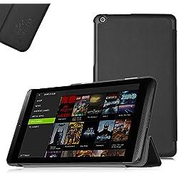 ELTD® Housse de haute qualité pour NVIDIA Shield Tablet / NVIDIA SHIELD K1 Tablette Avec Stand de positionnement support et le sort de veille (Pour NVIDIA Shield Tablet, Noir