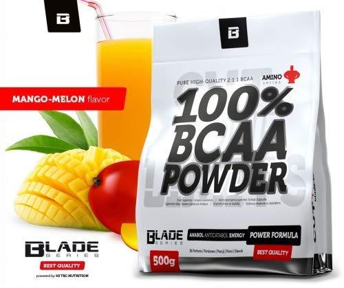 100% BCAA Pulver + Glutamin - 500g - BLADE Series Geschmack Mango-Melone