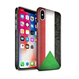 Stuff4 Clipser Matte Coque de Coque pour Apple iPhone X/10 / Soudan/Soudanais Design/Drapeau Africain Collection