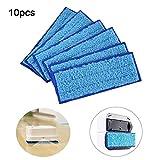 Paquet de 10 tampons de nettoyage humides en microfibre lavables, coussinets de nettoyage en tissu humide réutilisables pour iRobot Braava Jet 240/241