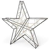 SnowEra LED Weihnachtsbeleuchtung in warmweiß   Weihnachtsdeko aus Metall in Schwarz/Kupfer   Höhe: 48 cm   Weihnachtsstern mit 200 Micro LEDs   Stern für Weihnachten   für innen geeignet