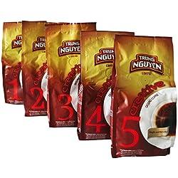 5er Probierset Trung Nguyen Vietnam Kaffee Creative 1,2,3,4,5 gemahlen (5x250g)