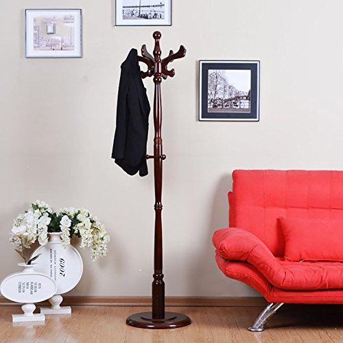 LXLA- Massivholz-Kleiderständer stehender Kleiderbügel Moderne einfache Kleidung Stehen Schlafzimmer Regal aus Holz abnehmbare Wohnzimmer 180 x 40 cm (Farbe : Braun)